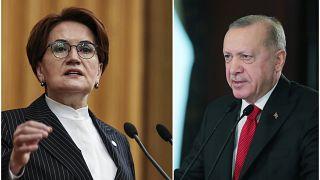 İYİ Parti lideri Meral Akşener, Cumhurbaşkanı Erdoğan
