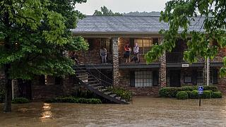 ABD'nin Alabama eyaletinde aşrı yağışın yol açtığı sel felaketi