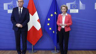 Swiss President Guy Parmelin met European Commission President Ursula Von der Leyen in late April.
