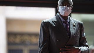 El presidente de la transición en Mali, Bah N'Daw, en París durante una cumbre internacional, el 18 de mayo de 2021.