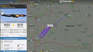 Belarus uçağı yarı yolda dönmek zorunda kaldı