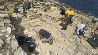 Scavi archeologici sull'isola di Keros in Grecia