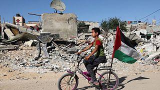 Gazze şeridinde enkaz