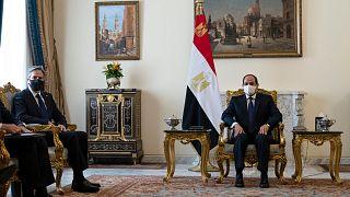 بلينكن خلال لقائه بالرئيس المصري عبد الفتاح السيسي