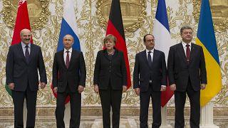 Лидеры Беларуси, России, Германии, Франции и Украины в Минске. 2015 год