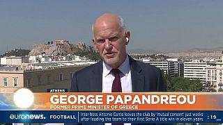 Ο πρώην πρωθυπουργός Γιώργος Παπανδρέου στο Euronews