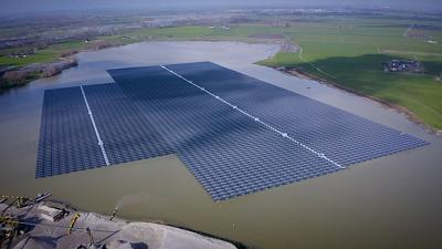 Water good idea: how Europe is saving space with floating solar parks