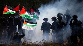 درگیری معترضان فلسطینی با ماموران امنیتی اسرائیل