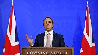 İngiltere Sağlık Bakanı Matt Hancock.
