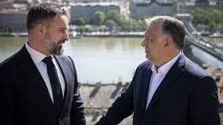Santiago Abascal, Orbán Viktor és a kilátás a Karmelita kolostorból