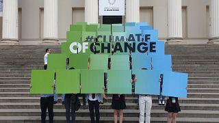 Diákok a klímaváltozás ellen