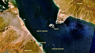 جزيرة بريم، المعروفة أيضا باسم ميون، في مضيق باب المندب.