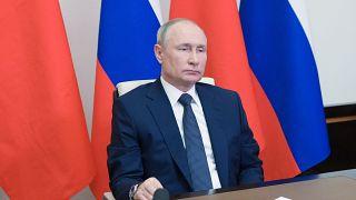 Vlagyimir Putyin orosz elnök egy pár napja rendezett videokonferencián – képünk illusztráció