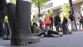 Protestierende Bauern in Frankreich