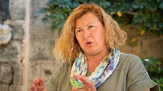 Malta lawmaker Marlene Farrugia talks with the Associated Press, in Velletta, Malta, on Wednesday, May 19, 2021