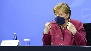 Angela Merkel nach dem Impfgipfel in Berlin