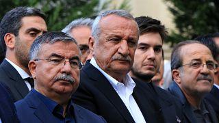 Eski İçişleri Bakanı Mehmet Ağar bir cenaze töreninde (Arşiv)