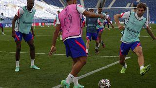 El Chelsea en un entrenamiento previo a la final.