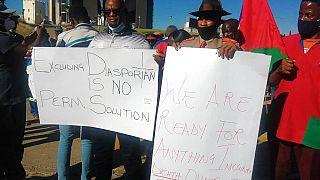 Tüntetés a namíbiai népcsoportokért, Windhoek, NAMIBIA, 2021. május 28. (illusztráció)
