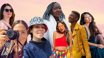 Collage of some of our favourite travel influencers