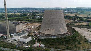 برج التبريد في أحد المفاعلات النووية في ألمانيا. 09/08/2019