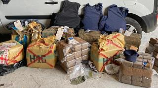 Part of the haul seized from the clandestine factory in Rotterdam, the Netherlands on Wednesday