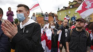 Demonstrations held against Belarusian President Lukashenko amid outrage over plane diversion