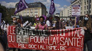 Manifestation en soutien aux soignants, Bruxelles le 29 mai 2021
