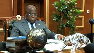 Dr Congo: Tshisekedi says volcano situation 'under control'
