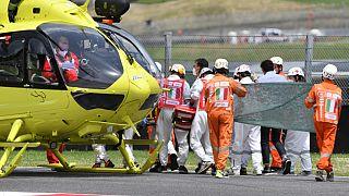 Nach dem tödlichen Unfall von Jason Dupasquier in Mugello in Italien