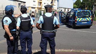 French gendarmes in Le Lardin-Saint-Lazare, near Sarlat, southwestern France, on May 30, 2021.