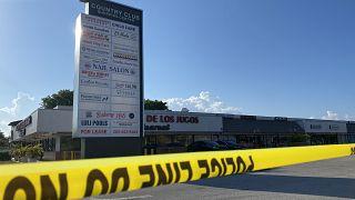 Il luogo dove è avvenuta la sparatoria, a Hialeah nella contea di Miami-Dade