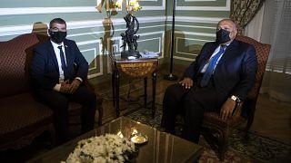 srail Dışişleri Bakanı Gabi Ashkenazi, Mısırlı mevkidaşı Samih Şukri