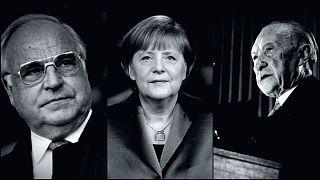 Helmut Kohl - Angela Merkel - Konrad Adenauer