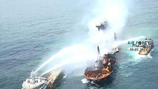 إندونيسيا: إنقاذ 274 شخصاً بعد اندلاع حريق على متن عبّارة
