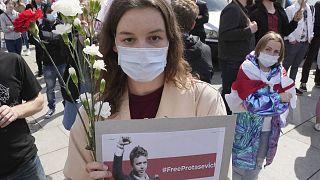 Proteste a Varsavia dell'opposizione bielorussa