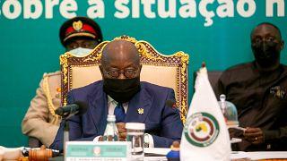 Ghanas Präsident Nana Akufo-Addo auf der ECOWAS-Sondersitzung