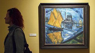 Erich Heckel egy másik híres festménye, a Sárga vitorlák (1913)