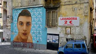 The mural dedicated to Ugo Russo