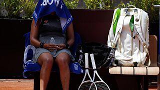 Naomi Osaka bei den Italien Open Anfang Mai