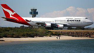 Qantas-Flugzeug in Sydney