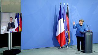 Videokonferenz mit Emmanuel Macron und Angela Merkel