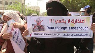 احتجاجات في غزة تطالب باستقالة ماتياس شمالي رئيس وكالة غوث اللاجئين الفلسطينيين (أونروا)