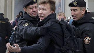 Задержание Романа Протасевича 26 марта 2017 года в Минске