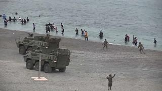 Llegada masiva de inmigrantes a Ceuta (archivo)