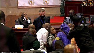 Scènes de violence au Parlement de l'Union Africaine