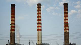 In this file picture taken on Aug. 17, 2012, a partial view of the ILVA steel plant is seen in Taranto, Italy