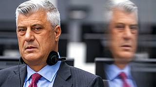 Hashim Thaci, who resigned as Kosovo's president to face charges including murder, torture and persecution, makes his first courtroom appearance at the Hague.