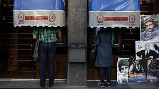خودپرداز یکی از شعب بانک ملی ایران در تهران
