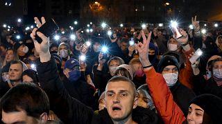 """Акция противников Лукашенко на """"Площади перемен"""" в Минске 12 ноября 2020"""